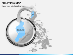 Philippines map PPT slide 12