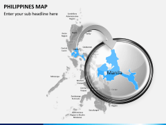 Philippines map PPT slide 13