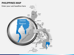 Philippines map PPT slide 15