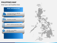 Philippines map PPT slide 18