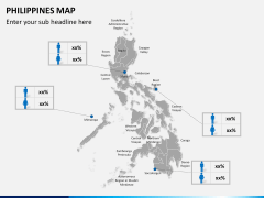 Philippines map PPT slide 19