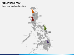 Philippines map PPT slide 2