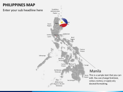 Philippines map PPT slide 20