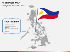 Philippines map PPT slide 21