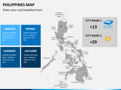 Philippines map PPT slide 22