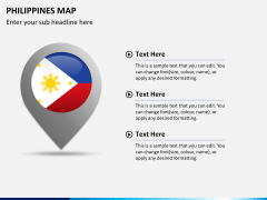 Philippines map PPT slide 23
