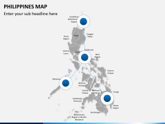 Philippines map PPT slide 3