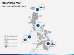 Philippines map PPT slide 4