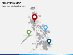 Philippines map PPT slide 5