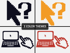 Pixel cursors PPT cover slide