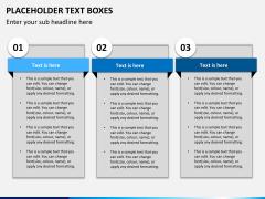 Placeholder text PPT slide 1