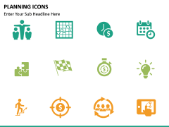 Planning Icons PPT slide 8