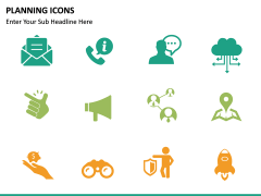 Planning Icons PPT slide 9