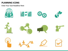 Planning Icons PPT slide 13