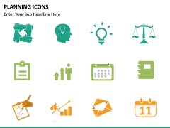 Planning Icons PPT slide 14