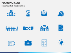 Planning Icons PPT slide 4