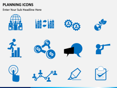 Planning Icons PPT slide 6