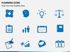 Planning Icons PPT slide 7