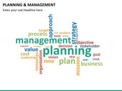 Planning and management PPT slide 16
