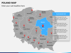Poland map PPT slide 10