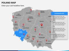 Poland map PPT slide 11