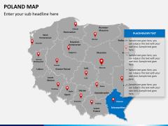 Poland map PPT slide 12