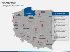 Poland map PPT slide 13