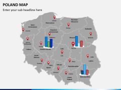 Poland map PPT slide 14