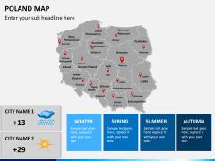 Poland map PPT slide 16