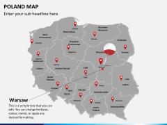Poland map PPT slide 17