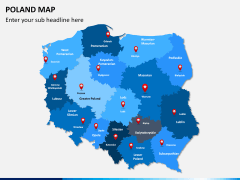 Poland map PPT slide 2