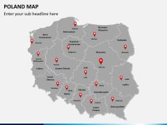 Poland map PPT slide 3