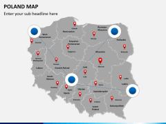 Poland map PPT slide 5