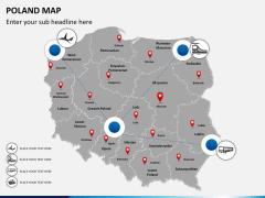 Poland map PPT slide 6