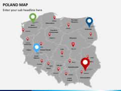 Poland map PPT slide 7