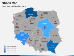 Poland map PPT slide 9