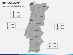 Portugal map PPT slide 19