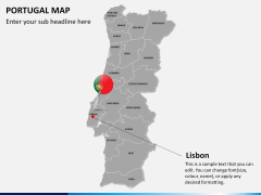 Portugal map PPT slide 20