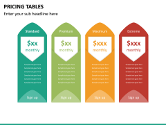 Pricing table PPT slide 13
