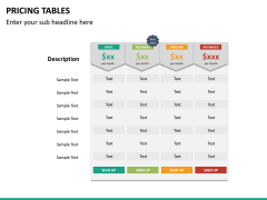 Pricing table PPT slide 22