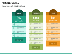 Pricing table PPT slide 16