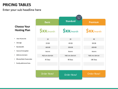 Pricing table PPT slide 19