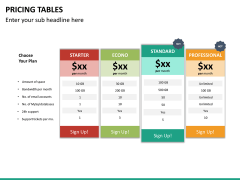 Pricing table PPT slide 20