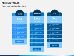 Pricing table PPT slide 4