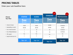 Pricing table PPT slide 8