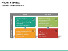 Priority matrix PPT slide 16