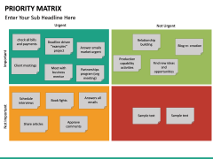 Priority matrix PPT slide 20