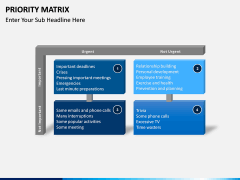 Priority matrix PPT slide 1