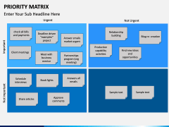 Priority matrix PPT slide 5