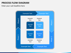 Process flow diagram PPT slide 1